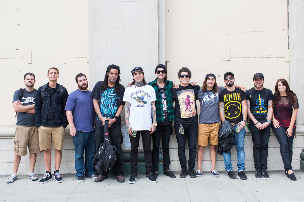 Collide With The Sky Tour full band and crew