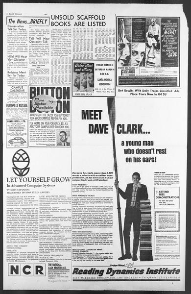 Daily Trojan, Vol. 58, No. 80, March 01, 1967