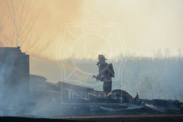 May 7, 2015 - Working Fire + Mutual Aid - Barn Fire - 364 Old Finch Avenue