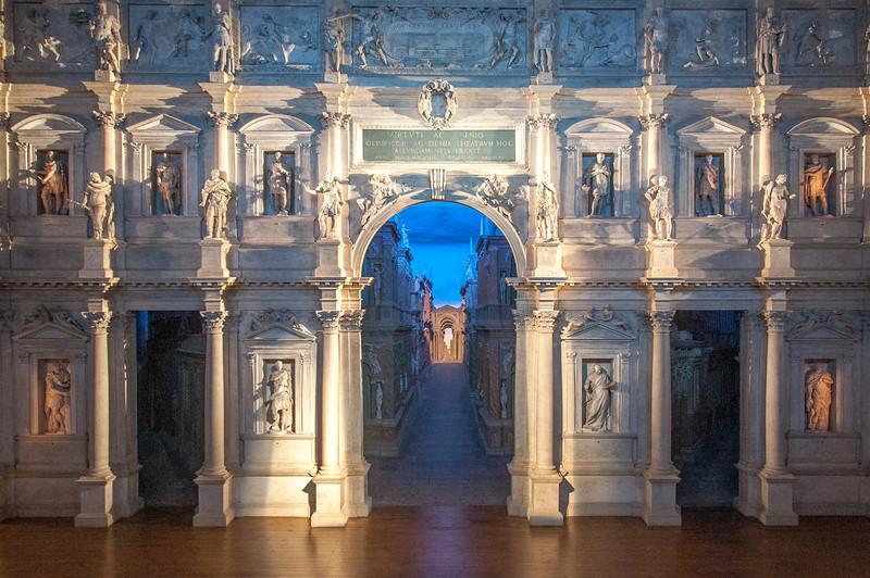 The Teatro Olimpico in Vicenza, Italy