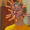 7-17-11 I thought I'd end the weekend with a fun photo.  This is my son Ryan having an eye popping experience with his darts.  Somehow I don't think this is what Nerf intended for thier darts to used as. It definately gave all the family quite a chuckle  Annette