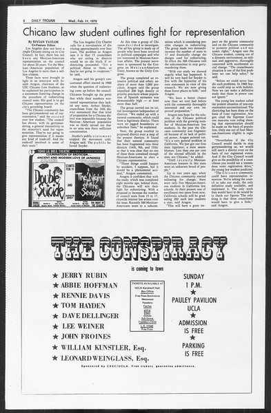 Daily Trojan, Vol. 61, No. 71, February 11, 1970