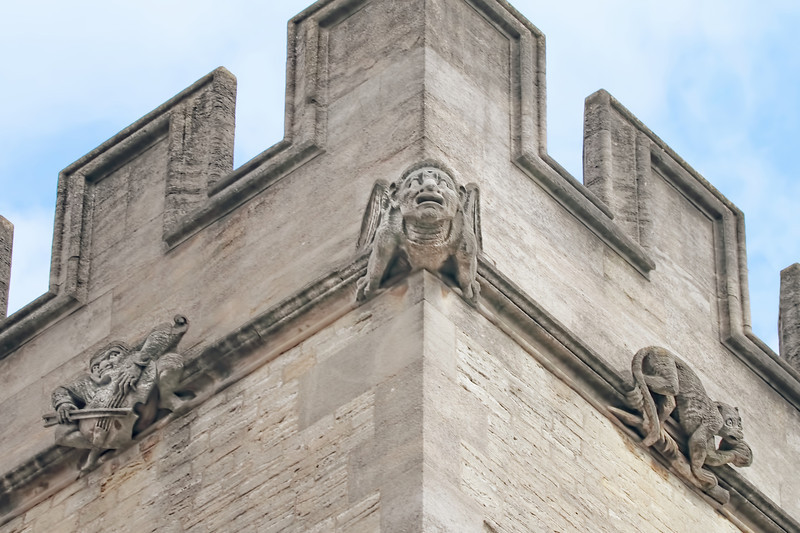 Gargoyles at Magdalene College, Oxford University