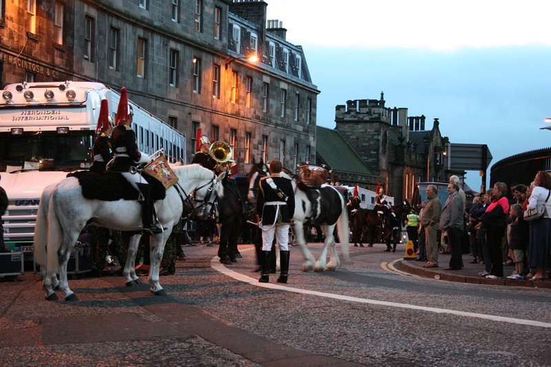 Preparing for the Edinburgh Military Tattoo.