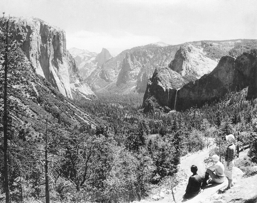 """. In 1965 a Yosemite Peak was declared \""""perfectly inaccessible\"""" shown Oct. 22, 1968. (AP Photo)"""