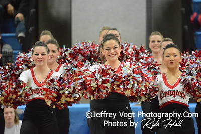1-10-2015 Quince Orchard HS Varsity Poms at Blake HS Invitational, MCPS Championship, Photos by Jeffrey Vogt Photography with Kyle Hall