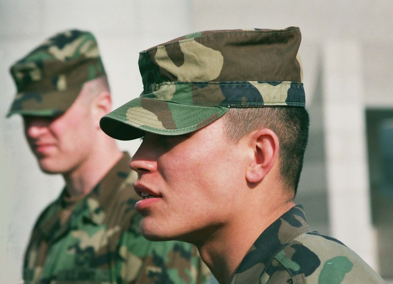 2001 American Soldirs at Panmunjom near North Korea.jpg