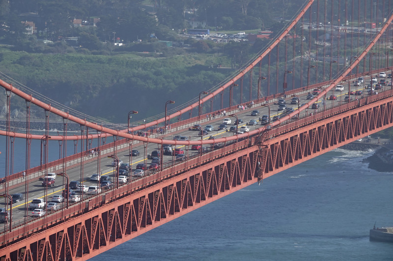 Congestion on the Golden Gate Bridge