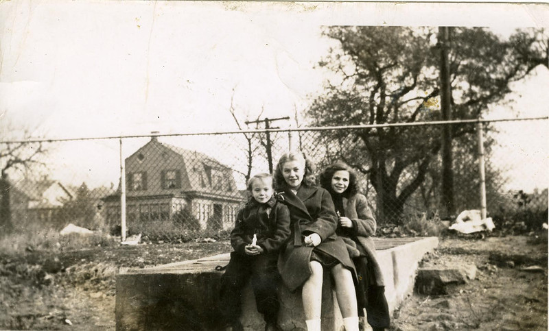 """Jeanette, Mary and Priscilla, taken last winter"" (1947)"