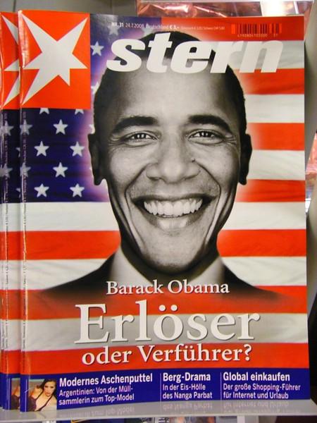 Barack Obama on a Magazine Cover - Berlin, Germany