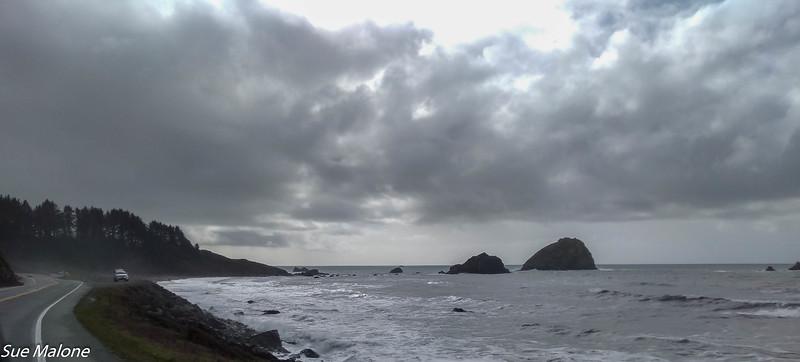 A very rainy day on the coast