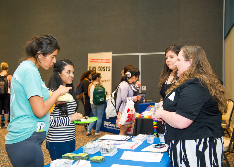 Students get the opportunity to visit the booths of different organizations to learn about the risks of underage drinking.