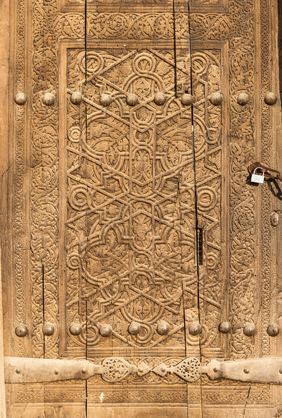 Ornate Wooden Door, Khiva