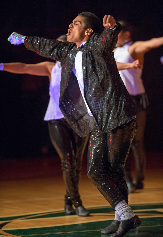 . A Michael Jackson tribute entitled This is It during Pioneer High School presents a preview of its 50th annual Titanette Revue entitled Luv to Dance at the Whittier campus April 17, 2013.   (SGVN/Staff photo by Leo Jarzomb)