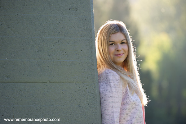 Jenna, Senior Photos, Cathedral Park