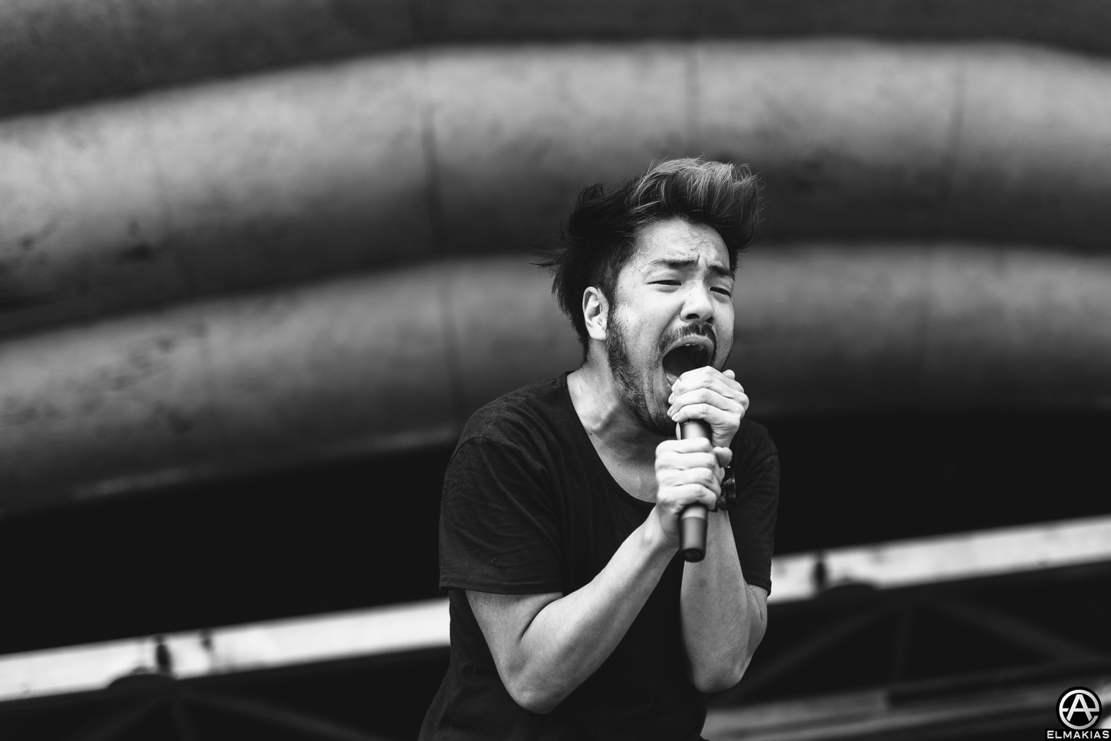 Kenta Koie of Crossfaith live at Vans Warped Tour 2015 by Adam Elmakias