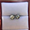 1.73ctw Georgian Peruzzi Cut Diamond Collet Stud Earrings 16