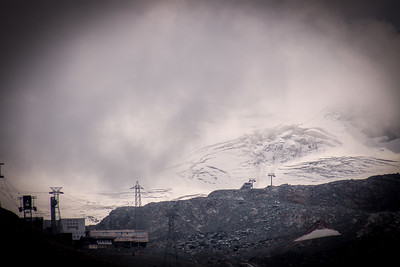 Mountain, Outdoor, Natural, Landscape, Ski Country, Rugged, Fog