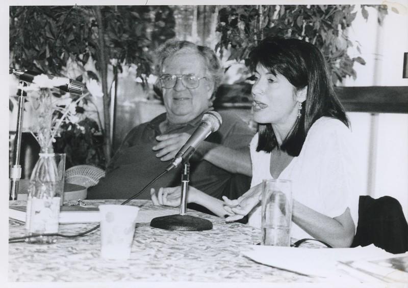 """1995 - Katherine Vox & William Kettredge on panel """"Workpoints"""".jpeg"""