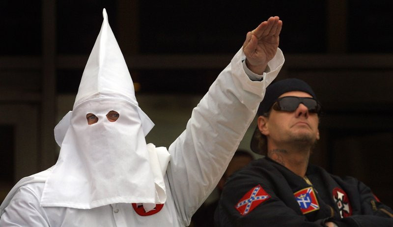 ". <p>9. KU KLUX KLAN: Still krazy after all these years. (3) <p><b><a href=\'http://www.rawstory.com/rs/2013/11/13/nc-kkk-mistakenly-attempts-recruiting-drive-in-black-florida-neighborhood/\' target=""_blank\""> HUH?</a></b> <p>    (Tim Boyle/Newsmakers)"