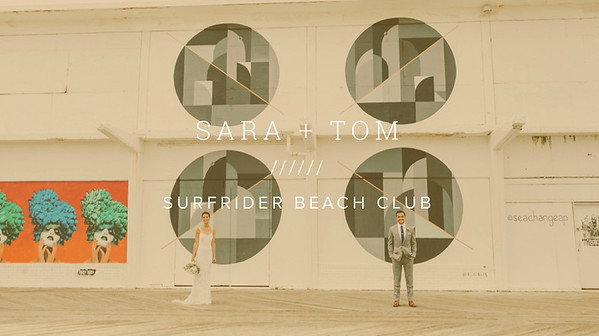 SARA + TOM ////// SURFRIDER BEACH CLUB