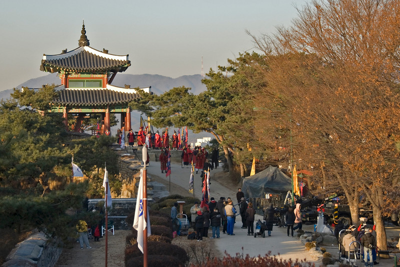 Shot of the film set at Hwaseong Fortress - South Korea
