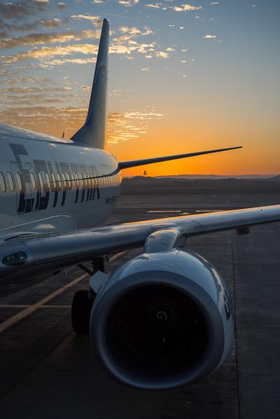 Aeropuerto de Luxor al amanecer. Egipto