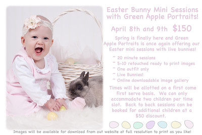 Easter Bunny Mini Sessions!