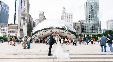 Diamond and Tea at The Bean - Milennium Park Chicago