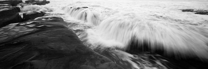 Water movement in tidepool crevices at La Jolla Calif. 3