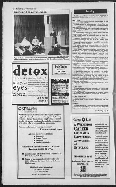 Daily Trojan, Vol. 132, No. 42, October 28, 1997