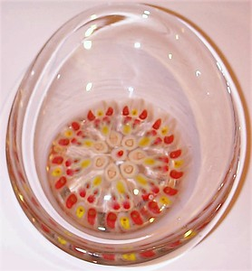 AD2 Millefiori Dish Bowl Signed & Dated