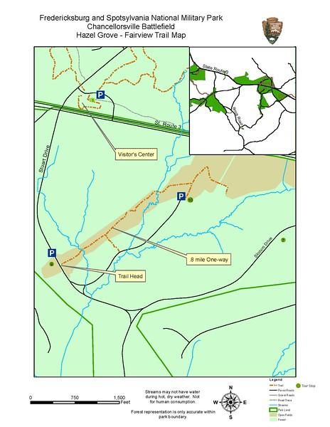 Fredericksburg & Spotsylvania National Military Park (Hazel Grove-Fairview Trail)