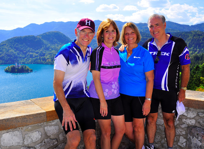 Jack, Gloria, Sue and Skip from Lake Bled Castle