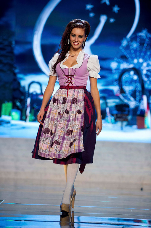. Miss Germany Alicia Endemann performs onstage at the 2012 Miss Universe National Costume Show at PH Live in Las Vegas, Nevada December 14, 2012. The 89 Miss Universe Contestants will compete for the Diamond Nexus Crown on December 19, 2012. REUTERS/Darren Decker/Miss Universe Organization/Handout