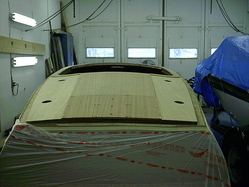 Rear deck fit with new mahogany to be bleached
