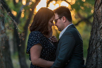 September Albuquerque Engagement - At Home & the Bosque with Kirsten and Gabriel