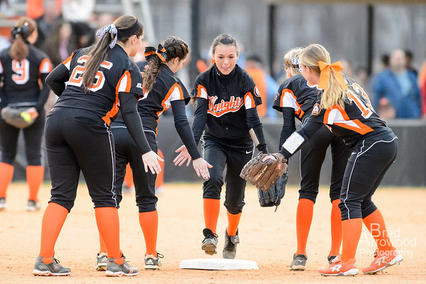NDHS Lady Knight Softball vs Davie 2015
