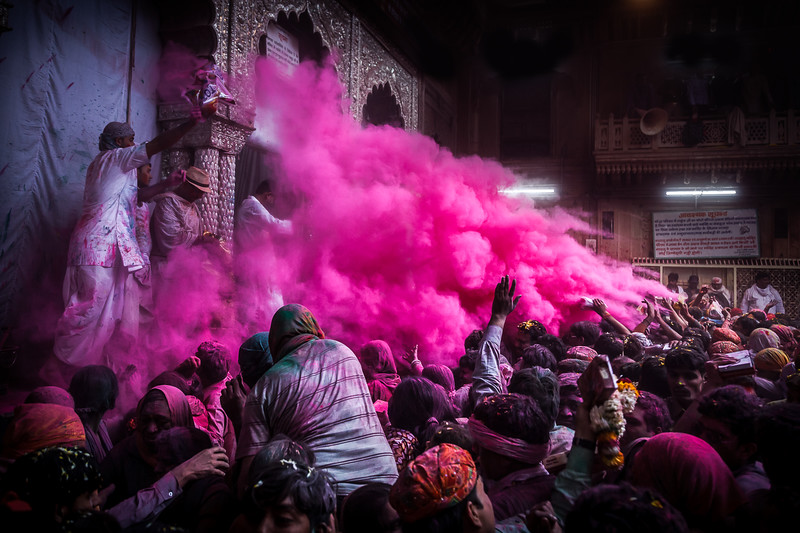 Holi Festival, Banki Bihari Temple, Vrindavan, India