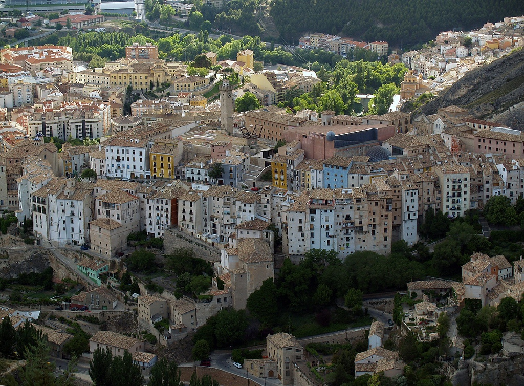 Cuenca, Spain from above