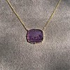 'Push Along' Purple Glass Pendant, by Seal & Scribe 24