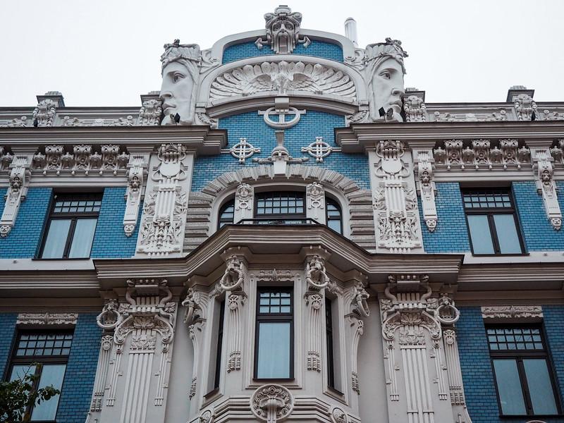 Art nouveau building in Riga