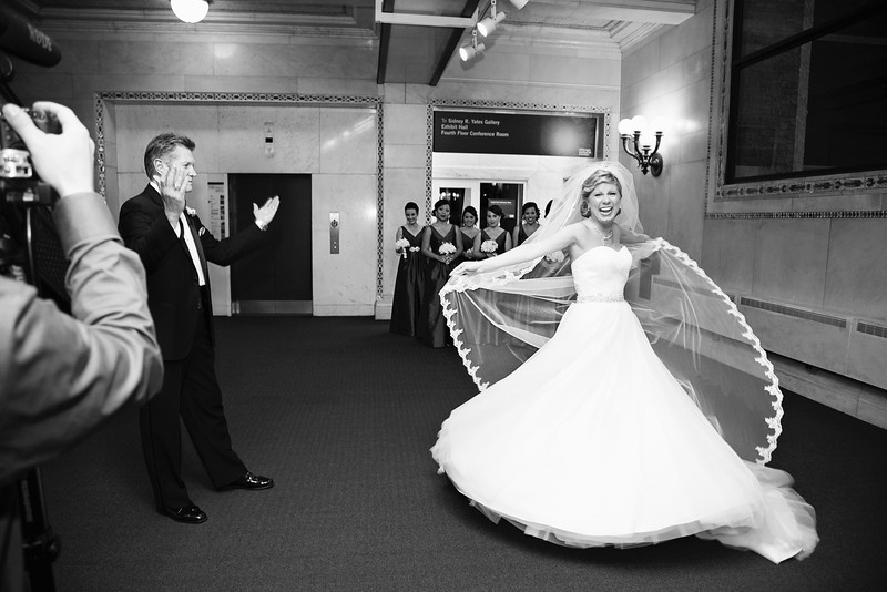Le Cape Weddings - Chicago Cultural Center Weddings - Kaylin and John - 010 First Look with Daddy 9