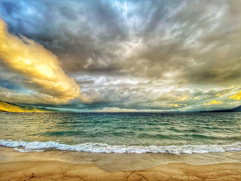 Sunset Storm, Lake Tahoe, Incline Village Beach, Incline Nevada