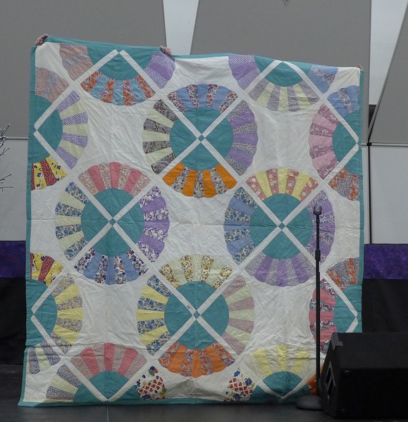 "Part of the special show and tell following Beth Donaldson's Program on ""Michigan Quilters and Quilt Collections""."