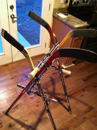 Old Hockey Sticks > Drying Rack