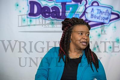 19567 Alumni Zontaye Bloodsoe in her TheZe DealZ Thrifty Boutique 11-20-17