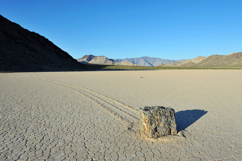 A moving rock in Death Valley National Park