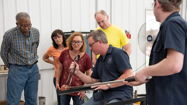 Glass Blowing Matriculation:  Creating Vessels & Shapes from Molten Glass with Dave & Bryan Lee