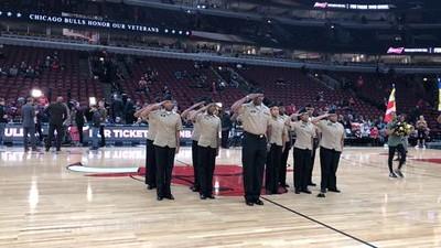 NJROTC Performs at Bulls Game